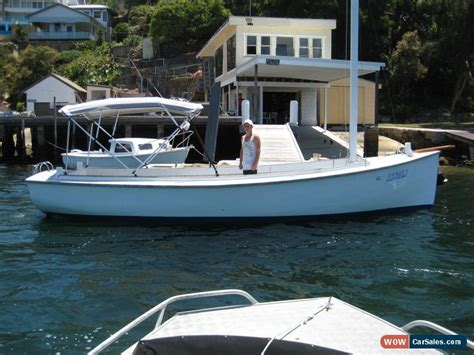 wooden boat for sale australia 26ft timber classic carvel putt putt putter wooden