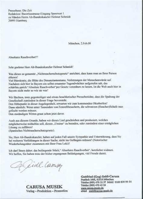 Mängelrüge Brief Schreiben Carusa Absolutes Rauchverbot