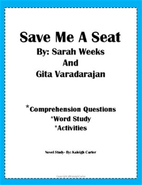 save me a seat reading level save me a seat novel study by kaleigh s classroom tpt