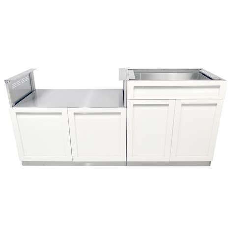 4 life outdoor stainless steel drawer plus 32x35x22 5 in 2 piece outdoor kitchen cabinet set w40063 4 life