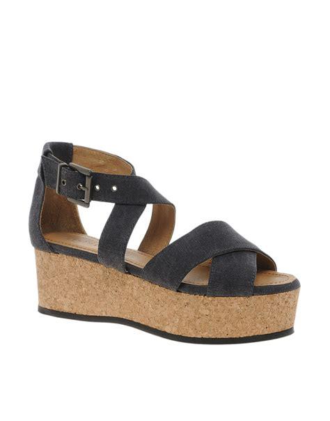 flatform sandals minimarket flatform sandals in brown washedblack lyst