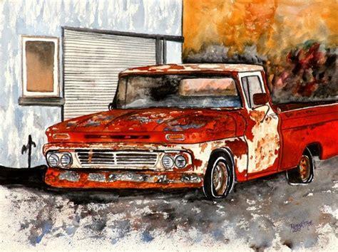 painting trucks watercolor paintings by derek mccrea chevy