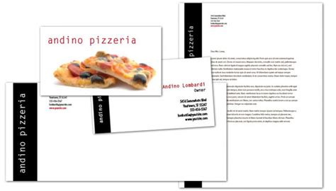 pizza business card template business card template for gourmet pizza order custom