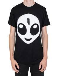Skrillex Logo T Shirt it is a white shirt for in the middle has skrillex