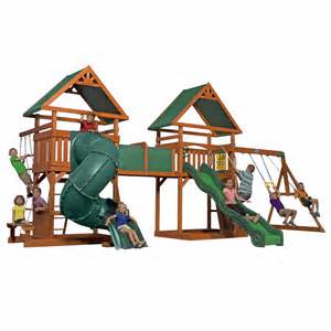 Backyard Discovery Grand Towers Backyard Discovery Grand Towers All Cedar Swing Set Bj S