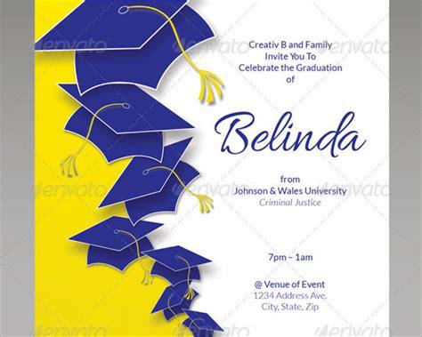 graduation flyer template 26 graduation invitation templates free premium creative template