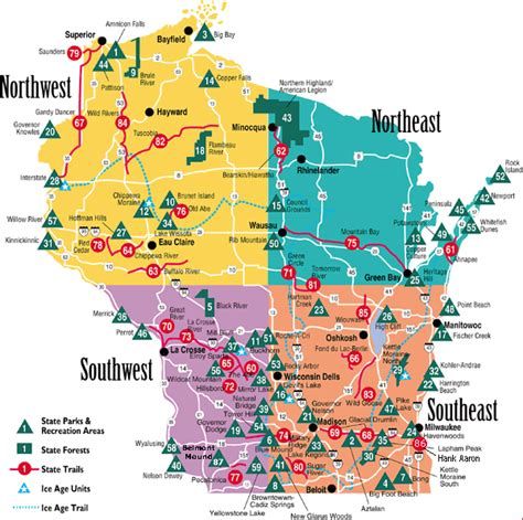 Wi State Parks Map by Buckhorn State Park Map Wisconsin Map Travel Holiday