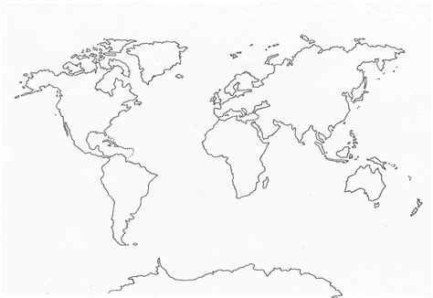 global map outline blank outline world map with medium