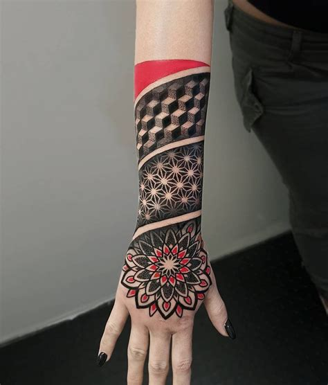 geometric arm tattoo best 25 geometric sleeve ideas on