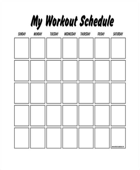 workout plan template pdf blank workout schedule templates 7 free word pdf