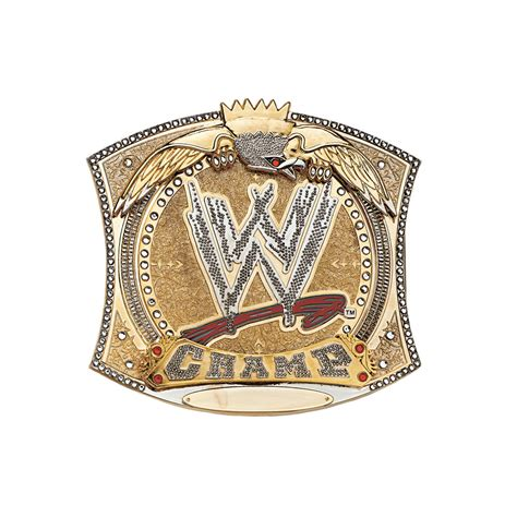 wwe spinner championship belt buckle pro wrestling