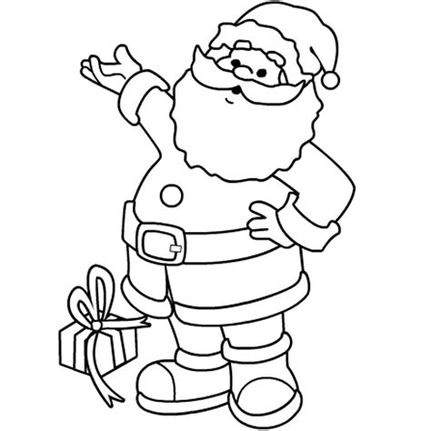 happy santa claus coloring pages christmas coloring