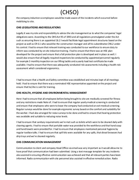 ohs report sle ohs monthly report template 28 images safety report
