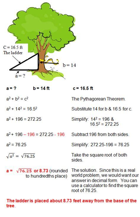 Pythagorean Theorem Word Problems Worksheet by Pythagorean Theorem