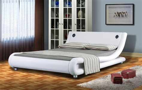 bed with speakers italian designer faux leather bed with bluetooth speakers