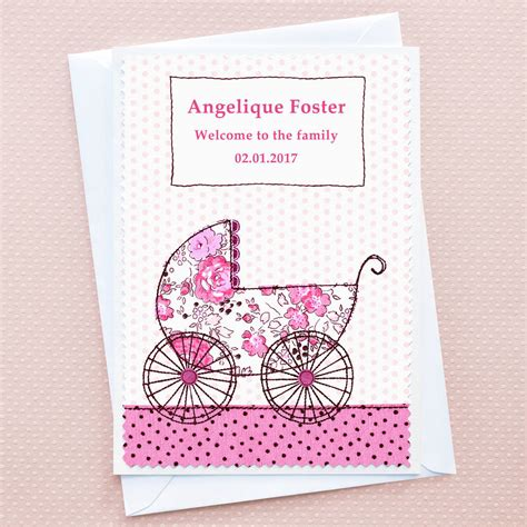 baby girl card tree design