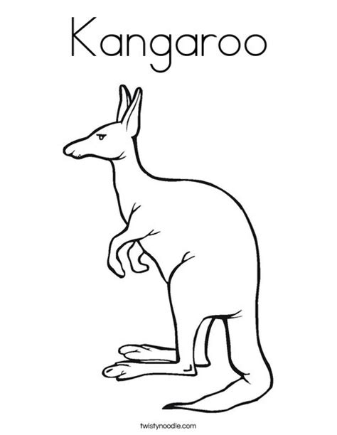 kangaroo coloring book pages kangaroo coloring page twisty noodle