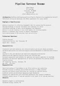 resume samples pipeline surveyor resume sample