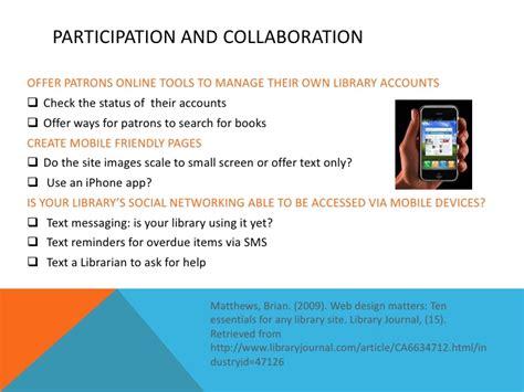 design criteria for a website presentation web design criteria for school libraries