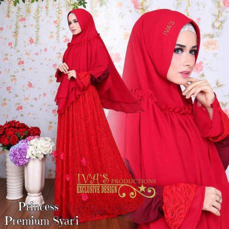 Lv Syari Dress Khimar princess syar i baju muslim gamis modern