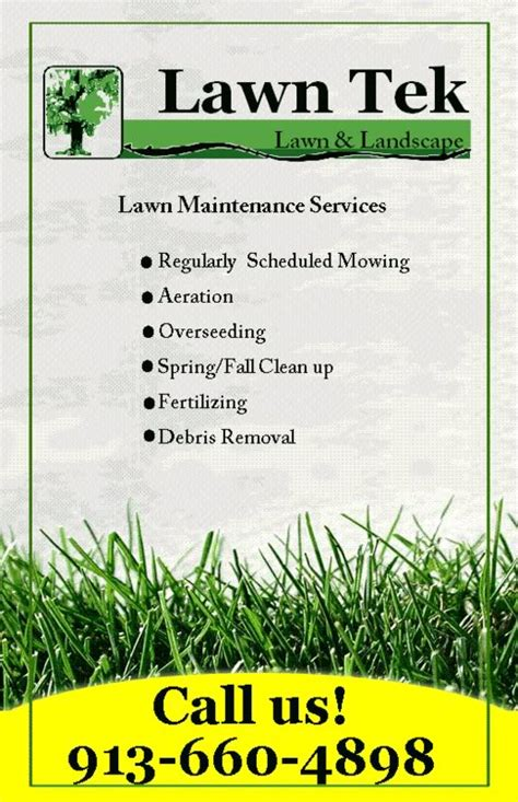 photos of residential lawn care flyer promotions l on free