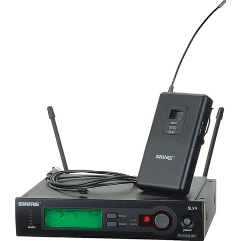 Shure Slx 24beta58 Wirelees Microfone shure slx series wireless microphone system b h photo
