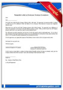 Employee Resign Letter by Employee Resignation Letter Employer Acceptance Images