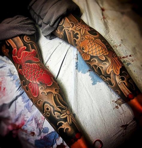 tattoo japanese leg japanese leg sleeve tattoos by joshcartertattoo