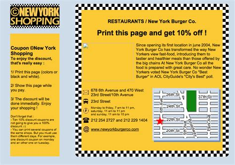 printable restaurant coupons new york discount coupons 169 new york com
