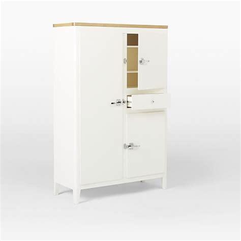 cabin kitchen armoire white west elm