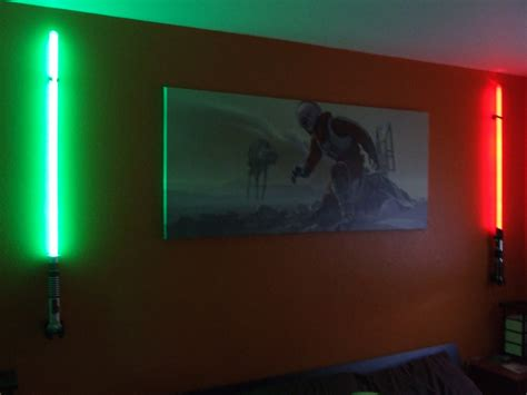 Lightsaber Wall Lights The Force Of Light Be With You Also Bedroom Interalle Com