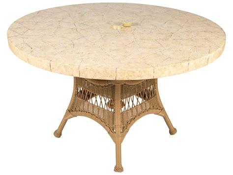 White Wicker Dining Table Whitecraft Sommerwind Wicker 48 Dining Table With Umbrella S596604