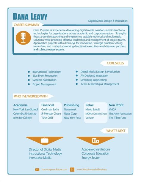 digital media infographic resume resume studio resumes career resume cover
