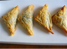 Kittencals Greek Spinach And Feta Puff Pastry Triangles ... Meat Spinach Cheese Pastry