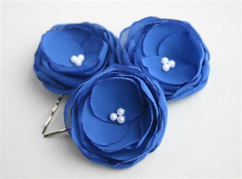 Royal Blue Hair Accessories For Weddings by Royal Blue Flower Hair Accessories Blue Flower Hair