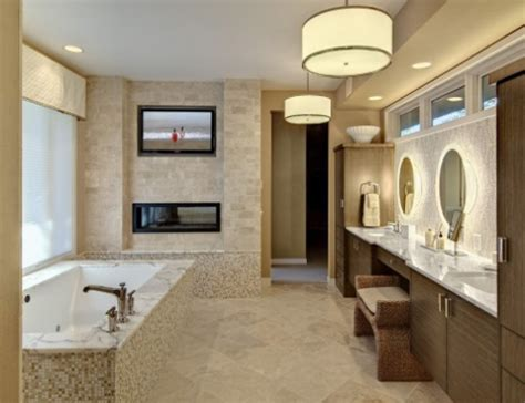 Bathroom Tv Ideas by Luxurious Bathrooms With Fireplaces