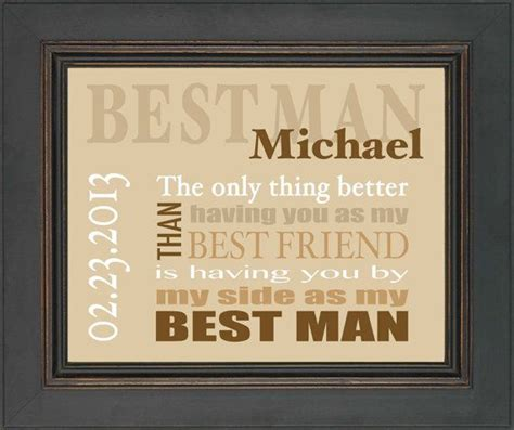 Best Man Gift   Wedding gift for Best Man   Personalized