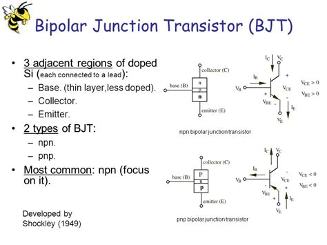 transistor bipolar npn pnp transistors student lecture by giangiacomo groppi joel cassell ppt