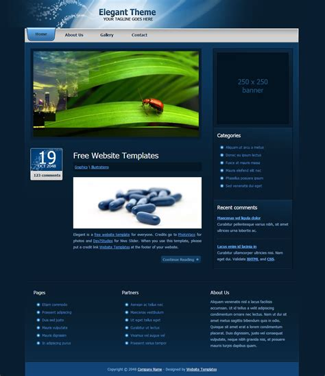 templates of website in html elegant theme free html css templates