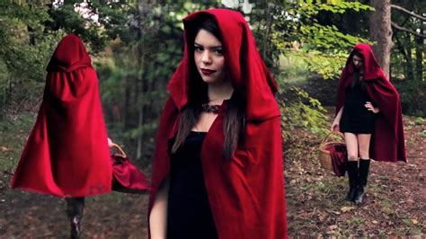 diy  red riding hood costume youtube