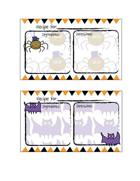 free printable halloween recipes free printable halloween recipe card cooking up cottage