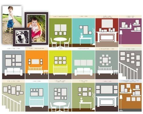 how to arrange pictures on a wall without frames pinterest