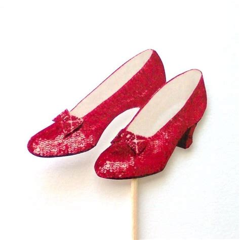 ruby slippers ruby slippers cupcake toppers set of 12 by theblissfulbaker
