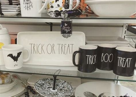 Rae Dunn Home Goods | i love these rae dunn halloween mugs and kitchen decor at