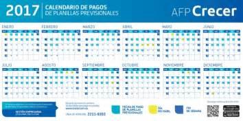 Calendario De Pago Fechas De Pago De Planillas Afp Crecer