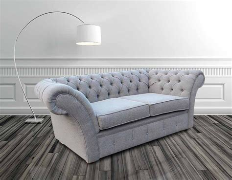 Fabric Chesterfield Sofa Uk Buy Silver Fabric Chesterfield Sofas Uk Designersofas4u