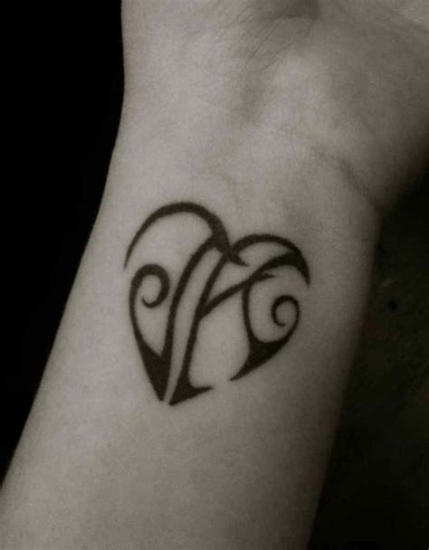 heart letter tattoo designs 40 stylish wrist initials tattoos
