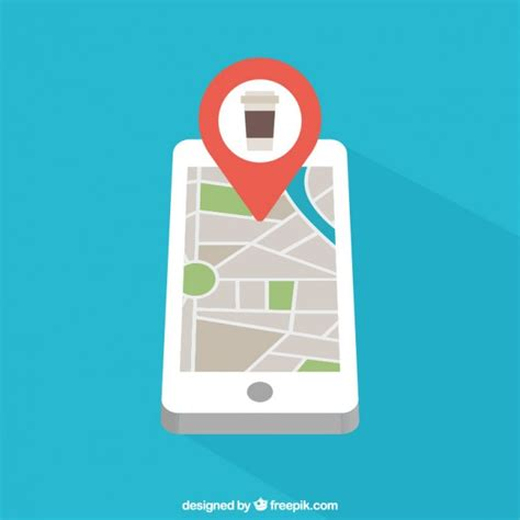 mobile maps mobile phone with map vector free