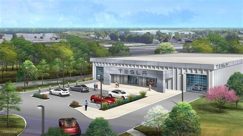 tesla dealership photo of tesla s proposed chesterfield dealership st