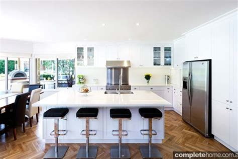 White Dining Rooms by A Fresh Hamptons Style Kitchen Design Completehome
